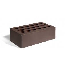 Кирпич лицевой керамический пустотелый утолщенный гладкий шоколад М150 250*120*88