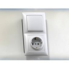 Блок комб. Electric-241С 1-клав.(сх.1)+1м.роз. с/з ВРА16-241С