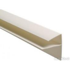 Профиль F профиль 10*30*20-3000мм белый (угол заверщающий) Белый (уп 50шт)