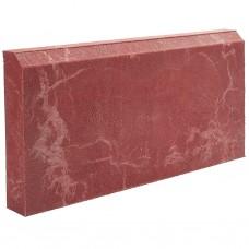 Бордюр тротуарный полимерпесчаный красный 500*250*50мм