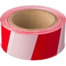 Лента сигнальная 50мм*200м красно-белая
