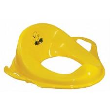Насадка на унитаз детская с ручками пластик (желтый)