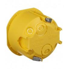 Подрозетник ГКЛ 68*45 желтый с лапками Schneider
