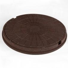 Люк полим. песчан. (коричневый) до 3 тон высота 90мм (590/760мм)