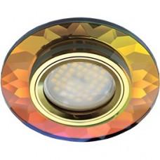 Спот Ecola DL1654 мультиколор/золото FM1654EFF