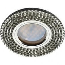 Спот Ecola DL1662  зеркало/хром FW16RGECB стекло круг с прозр.стразами