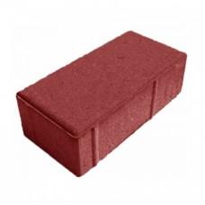 Плитка тротуарная Кирпичик 200*100*60 красный литье Промикс