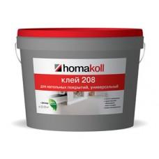 Клей Хомакол 208 ведро 1,3кг для гибких напольных покрытий, для впитывающих оснований