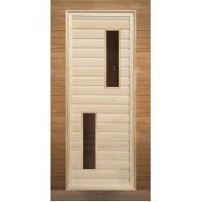 Дверь Банная со стеклом 1700*700 2 стекла сорт А