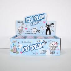 ICE CREAM радужный + лизун  12/240 шт/уп