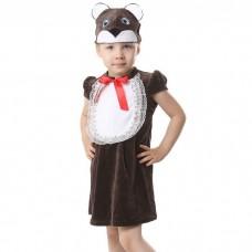 """Карнавальный костюм """"Медвежонок"""" (сарафан,шапка) для девочки 1,5-3-х лет 1392512"""