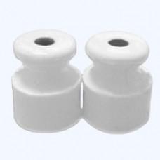 Изолятор пласт. РД для двойного провода D 20*23 белый