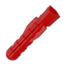 Дюбель универсальный потолочный красный 6*51