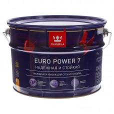 Краска EURO POWER-7 моющ.д/стен и потолков 9л. Тиккурила А