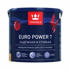 Краска EURO POWER-7 моющ.д/стен и потолков 2,7л. Тиккурила С