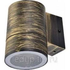 Св-к. Ecola 8003А металл.черн.бронза 1*GX53 влагозащ.прозр.цилиндр Р65 FN53C1ECH