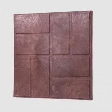 Плитка тротуарная полимерпесчаная коричневая 33*33*25