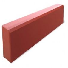 Бордюр тротуарный 580*195*35мм красный литье