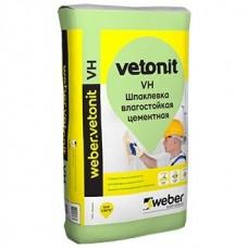 Шпатлевка Ветонит VH 20кг белая, финиш. цементная влагостойкая