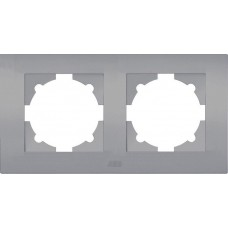 Рамка AtlasDesign 2мест. алюминий ATN000302