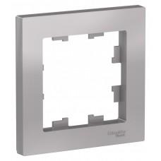 Рамка AtlasDesign 1мест. алюминий ATN000301