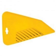 Шпатель д/разглаживания обоев 300мм желтый Бибер
