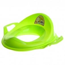 Насадка на унитаз детская с ручками пластик (зеленый)