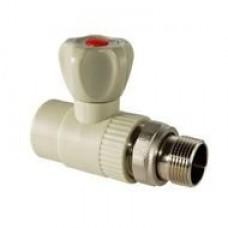 Кран шаровый д/радиаторов 25*3/4 (прямой) VOSTOK (белый)