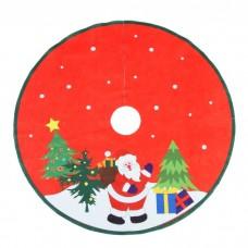 """Полянка под елку d-75 см """"Дед мороз с подарками """"   3340376"""