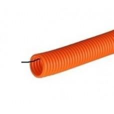 Труба гофрированная ПНД 20мм оранжевая, промрукав лёгкая 350Н НГ