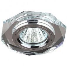 Спот ERA MR16 DK5 SH/SL декор стекло многогран серебр.блеск/хром