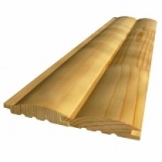 Блок-хаус (имитация бревна) 36*185*6м (2шт/2,22м2) АВ Сосна