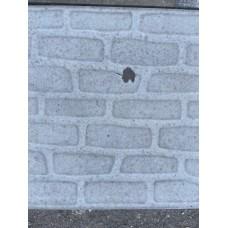Плитка тротуарная Булыжник 400*400*40мм серый литье