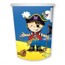 1502-1292 Стакан бум. Маленький пират 250мл. 6шт/G