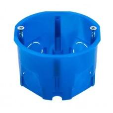 Подрозетник ГКЛ 68*45 синий в бетон