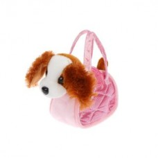 Игрушка на бат. Собачка в сумочке: ходит, виляет хвостом и поет русскую песенку JB500024