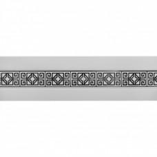 Карниз 3-х рядный с поворотами ПВХ Амулет ЛЕ-ГРАНД 7см 2,4м Белый Глянец/Хром