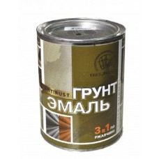 Грунт эмаль по ржавчине 3в1 Зеленый мох 0,9 кг Радуга(14)