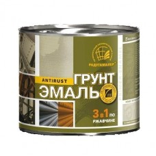 Грунт эмаль по ржавчине 3в1 Серая 1,9 кг Радуга(6)