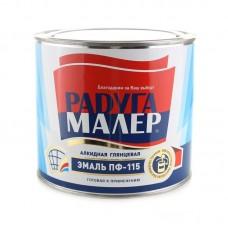 Эмаль ПФ-115 0,9кг. белая Радуга ГОСТ 6465-76