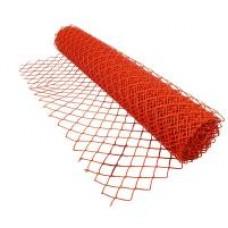 Сетка рабитца ПВХ красная из оц.пр. 50*50 d-2,2мм 1,5*10м