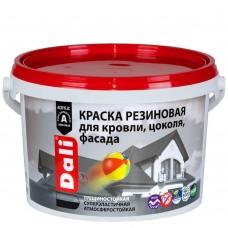 Краска резиновая д/крыш 3кг красно-коричневая Dali