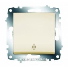 Выключатель ABB Cosmo 1-клав. крем. механ. сх.6 б/рамки