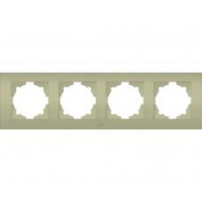 Рамка ABB Cosmo 4-местн. титаниум