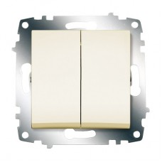 Выключатель ABB Cosmo 2-клав. сх 6 крем механ. б/рамки