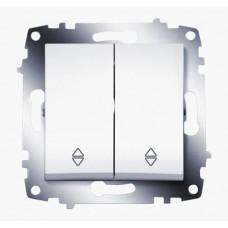 Выключатель ABB Cosmo 2-клав. сх 6 алюм. механ. б/рамки