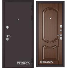 Дверь метал.Бульдорс Econom3 860х2050L Левая Букле Шоколад Н1 Карамель