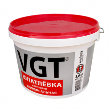 Шпатлевка Акриловая д/нар.и вн.работ 3,6кг ВГТ (влагостойкая)