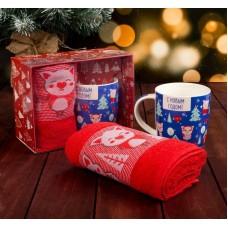 Подарочный набор Поросята кружка350мл+полотенце 30*70см 3889887