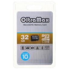 Карта памяти OLTRAMAX MICROSDHC 32GB CLASS 10 + адаптер SD